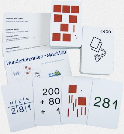 Hunderterzahlen – MauMau und andere Kartenspiele