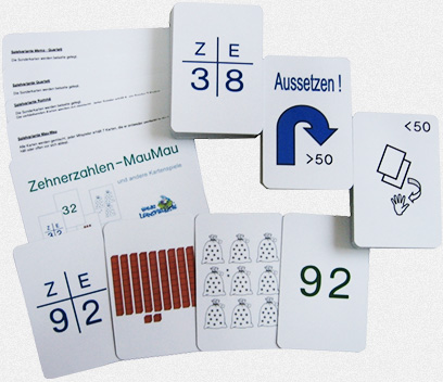 Zehnerzahlen – MauMau und andere Kartenspiele